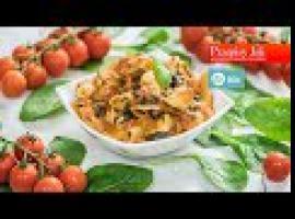 Jak przygotować szybki obiad - kurczak, szpinak i makaron