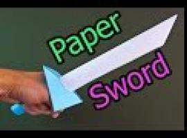 Jak zrobić miecz z papieru do zabawy