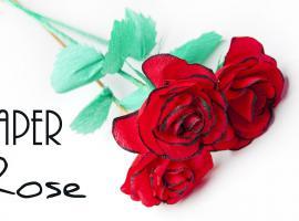 Jak złożyć piękną różę z krepiny