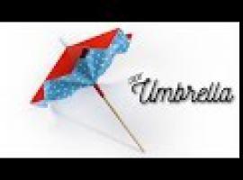 Jak zrobić papierową parasolkę, którą można złożyć