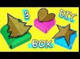 Jak zrobić 3 pudełka na świąteczne prezenty