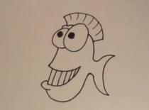 Jak narysować rybę z kreskówki