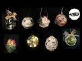 Jak ozdobić przeźroczyste bombki - 5 pomysłów