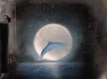 Jak narysować delfina na tle księżyca