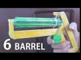 Jak zbudować sześciostrzałowy pistolet na gumki