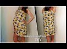 Jak ubrać się w ciąży - szycie sukienki