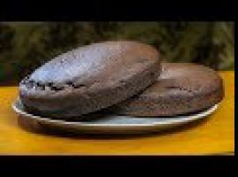 Domowy biszkopt bez jaj do czekoladowego tortu