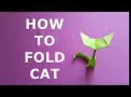 Jak złożyć papierowego kota