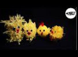 Wielkanocne kurczaczki z krepiny