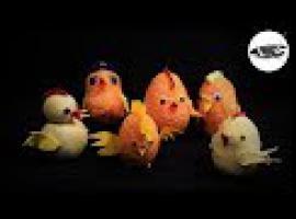 Jak zrobić dekoracje na Wielkanoc - kurczaki ze skarpetek