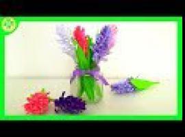 Jak składać kwiaty z papieru - hiacynt