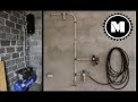 Instalacja pneumatyczna DIY - pokaz z budowy