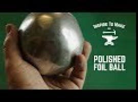 Jak zrobić gładziutką kulę z folii aluminiowej - challenge