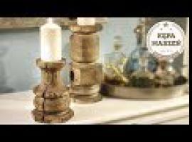 Jak zrobić drewniane świeczniki ze starej belki