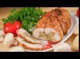 Jak zrobić kurczaka nadziewanego pieczarkami i pietruszką
