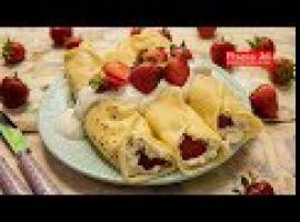 Prosty obiad - naleśniki z serem i truskawkami