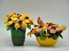 Jak zrobić kwiaty z makaronu