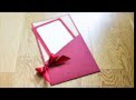 Jak zrobić elegancką kartkę z kieszonką