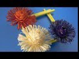 Jak zrobić kwiaty z papieru w formie ramki