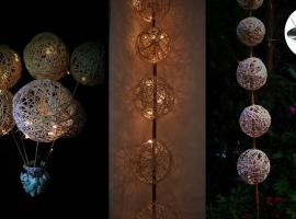 Jak zrobić lampy z wielkich sznurkowych kul