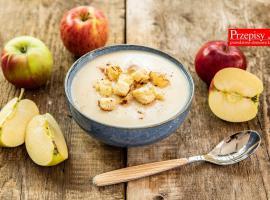 Jak zrobić zupę jabłkową z grzankami z chałki