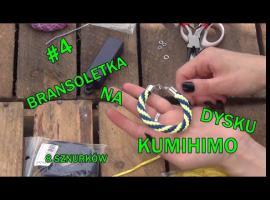 Jak zrobić działać na dysku kumihimo - tworzenie bransoletki