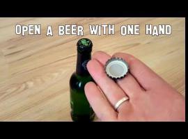 Jak otworzyć piwo jedną ręką