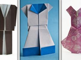 Jak zrobić ubrania z papieru - origami