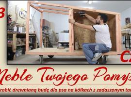 Jak zrobić drewnianą budę dla psa z zadaszonym tarasem