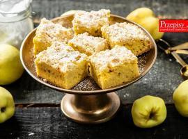 Jak zrobić jabłecznik z budyniem i kruszonką
