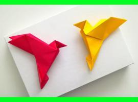 Jak zrobić ptaka z papieru - techniki origami