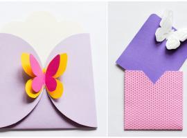 Jak zrobić kopertę z motylami
