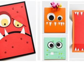 Jak zrobić kartkę na halloween - kartka z potworami