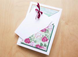 Jak zrobić stylową kartkę urodzinową - kartka z kieszonką