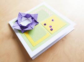 Jak zrobić kartkę z kwiatem 3d