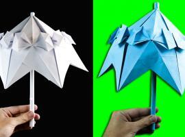 Jak zrobić papierową parasolkę