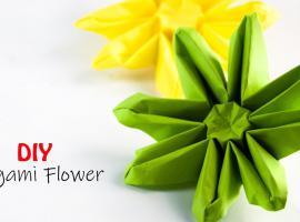 Jak zrobić ciekawe kwiaty - origami