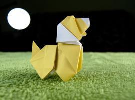 Jak zrobić pieska z papieru - origami