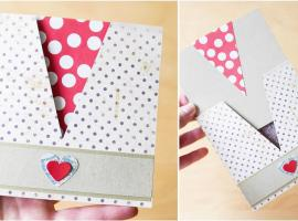 Jak zrobić ciekawą kopertę z kartką ukrytą w środku
