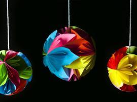 Jak zrobić dekoracje z papieru w kształcie kul - origami