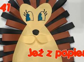 Jak zapewnić dziecku kreatywną zabawę - jeż z papieru
