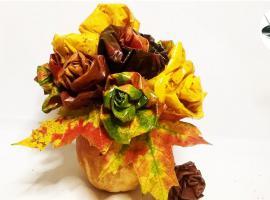 Jak tworzyć ekologiczne ozdoby- róże z jesiennych liści