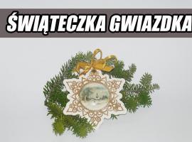 Jak wykonać świąteczną gwiazdkę techniką decoupage