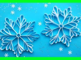 Jak wykonać śnieżynkę z pasków papieru
