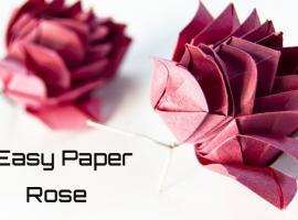 Jak wykonać różę z papieru