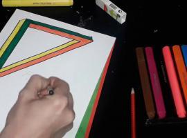 Jak narysować trójkąt w 3D - złudzenie optyczne