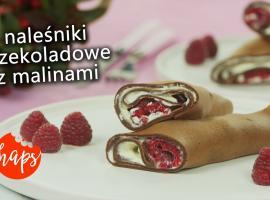 Jak zrobić czekoladowe naleśniki z malinami
