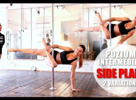 Jak wykonać side plank variation w Pole Dance