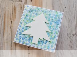 Jak zrobić kartkę świąteczną z folią bąbelkową
