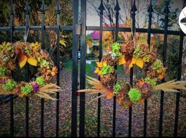 Jak wykonać wieniec na drzwi z jesiennych hortensji